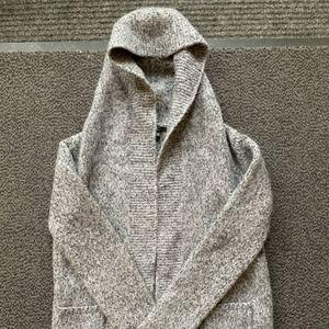 Cozy! Merino/Alpaca blend hooded Theory Cardigan
